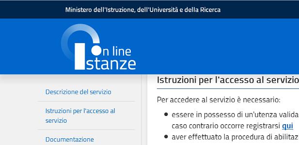 istruzione istanze on line